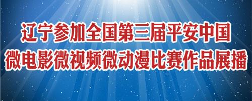 辽宁参加全国第三届平安中国微电影微视频微动漫比赛作品展播